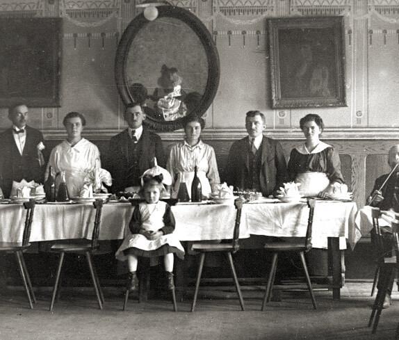 Familientreffen im Gasthaus Hutter (Ziegelwirt/ Oberschützen)